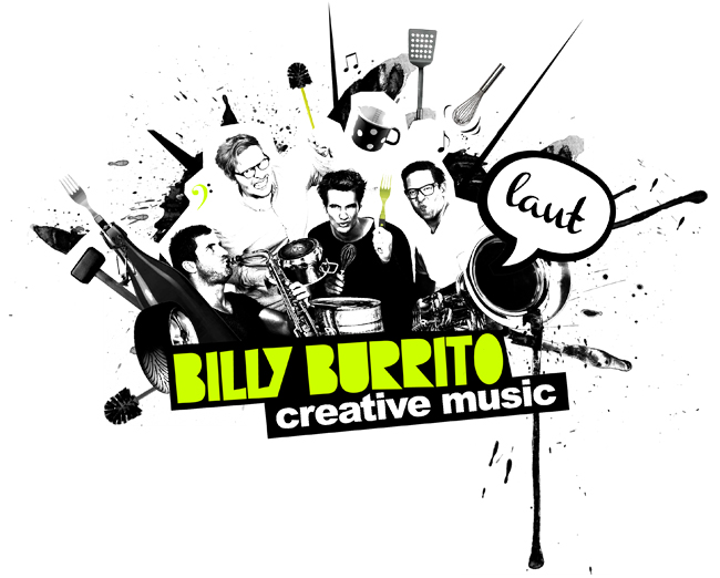 Logo Billy Burrito, mobile Band Walkact